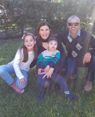 Walter Tironi en familia