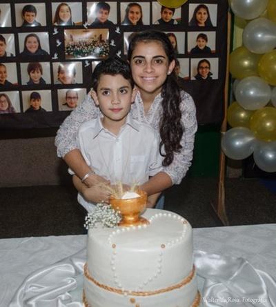 Juan Cruz con su madrina
