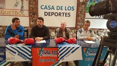 Rafael Sosa Pintos, Jorge Soto, Ramón Vela y Wilton Vignolo con el boxeo que se viene en Salto