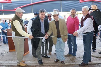 Corte de cinta en la inauguración de la Expo Avícola