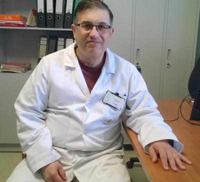 Médico Pediatra Luis Pedrozo, Director de CTI de niños y recién nacidos de Hospital Regional Salto