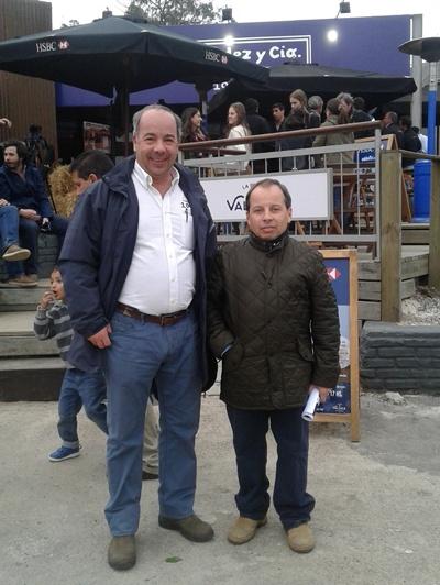 José y Pablo Valdez en La Peña de Valdez en la Expo Prado