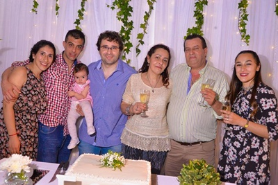 Mirella Pereira, Damián Baladán, Lucía Baladán, Joaquín Pérez, Rosario Balbela, Enrique Baladán y Jimena Pérez