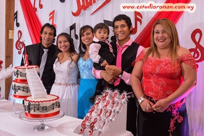 Yamila, sus padres Omar y María Elena, su hermana Dayana Soledad, su cuñado Fabricio Duarte y su sobrino Santino Nicolás Duarte