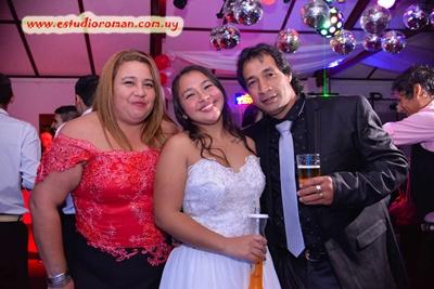 Yamila con sus padres Omar Correa y María Elena Izaguirre