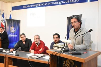 Jorge de Souza, Regino López, Fabián  Bochia y el arquitecto Montemuiño