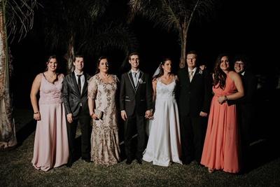 Joaquín, y Alejandra , junto a sus padres Gustavo y  Mónica y sus hermanos: Mariana y Rodrigo Boggio; Leticia y  Matías Baptista