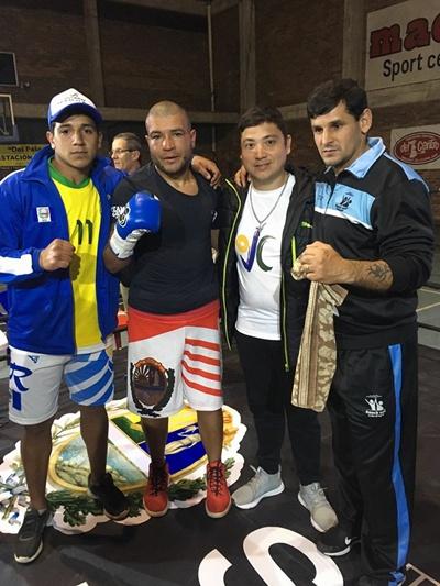 "Gustavo Benitez, Christian Bravo, Rafael Sosa Pintos y  Ruben ""Cafetera"" Silva"