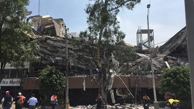 Reportan daños en la capital de México, Puebla y Morelos por terremoto