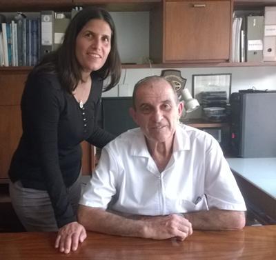 Dr. Juan Carlos Abrano y su hija Irene