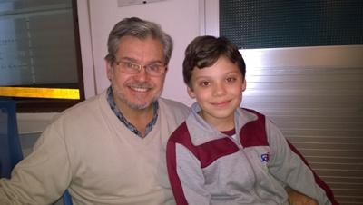 Dr. Juan  Lema y su hijo