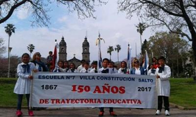 Foto archivo participando en Salto alumnos de Escuela 7