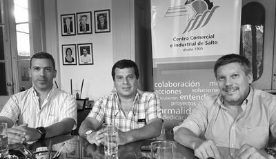 Alberto Venturini, Marcelo Flores y Juan Pablo Morelle