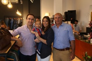 Maximiliano Arce, Pablo Chapuis junto a sus hijos Camila y Alfonso