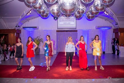 Melina de Armas, Catterina Gatii, Analia Laxague, Diseñadora Diana Macallister, Jessica Dalmao, Andreina Souza, Florencia Silveira