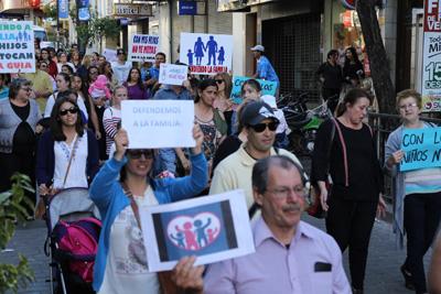 La marcha se realizó el sábado por la tarde