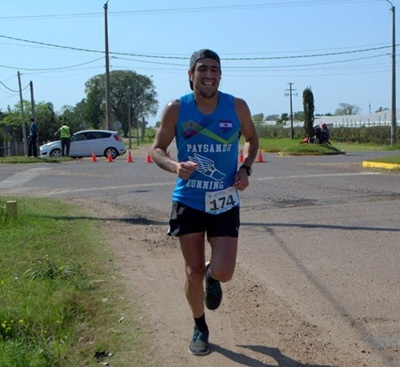 El atleta salteño Rodrigo Sánchez Leal participará el  domingo 26 de noviembre en una ultramaraton en Cerro Largo