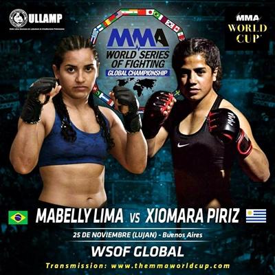 Xiomara Píriz peleará en Buenos Aires el  próximo 25 de noviembre  en un espectáculo  de MMA de primer nivel