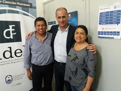 Los profesionales de Chiapas, México, junto al Director de la UCUDAL Salto, Mag. Emilio Silva