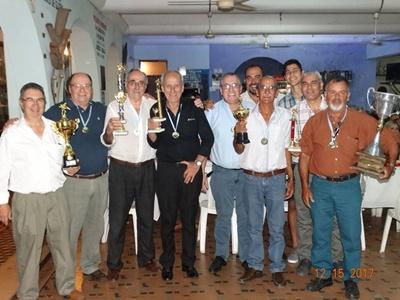 El plantel de Circulo Sportivo campeón Salteño de Billar 2017