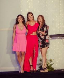 Las organizadoras: Guadalupe Hernández, Fernanda Sosa y  Agustina Speranza
