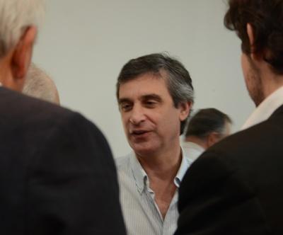 Cr. Álvaro García en reciente visita a Salto
