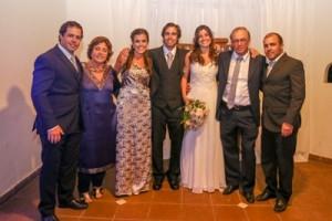 Padres y hermanos de Germán: Rodrigo Cuetto, Elena Devotto, Cecilia Cuetto, Germán y Amelia, Roberto y Martín Cuetto