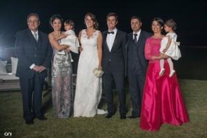 La familia del novio.Gerardo Leys,Karina Rodriguez, Sofía Leys, Florencia, Juan Andrés, Pablo Leys, Beatriz Souza, Isabella Leys