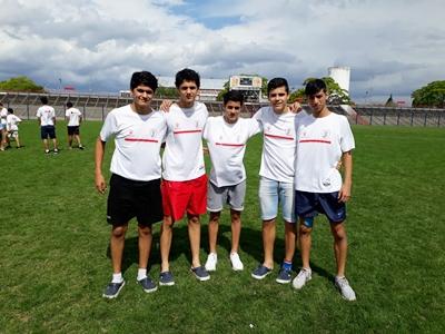 Lucas Hernández, Bruno Vera, Mauricio Miños, Matías Piedad y  Francisco Cavalherro. Los cinco de Ferro en la sub.14 Calidad y proyección