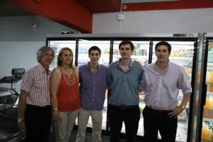 Edgardo Luzardo, Silvia Balatti, Carlos, Guillermo y Martín Luzardo