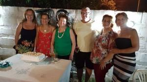 María Odila y los hijos Carlos, Jaqueline, Catherine, Nilza y su cuñada Zulma