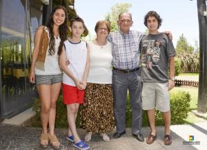 Con los nietos Bernabela, Federico y Fausto