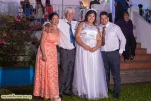 Graciela Oxandabarat, Camila, Augusto y Juan Alberto Pintos