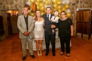 Padres de la novia; Héctor Soutto y Yolanda Sánchez junto a Favio, Andrea y Lautaro