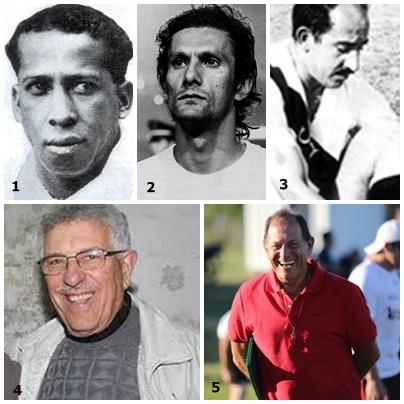1- Leandro Andrade, 2- Pedro Vigilio Rocha. 3- Ruben Grassi. 4- Walter Finozzi. 5- Ramón Rivas
