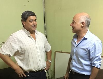 Con el Dr. César Signoreli en  EL PUEBLO antes de la elección. ¿Ahora la postura es otra?