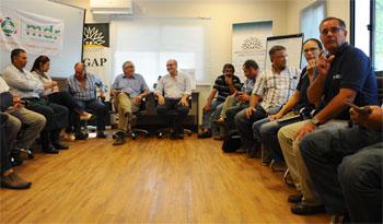 Reunión con el ministro para encarar el problema de la sequía