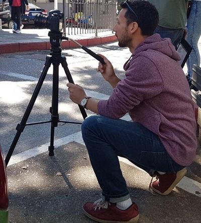 CINE - Franco Santana en pleno rodaje