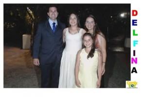 Delfina junto a sus padres Juan Carlos Pereira y Lucía Grasso y hermana Guadalupe