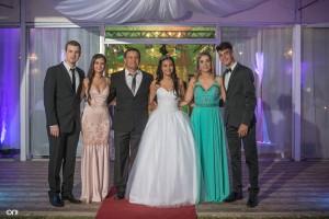 Los hermanos Nicolás, Maile, el papá Nelson, Sol, la mamá Anita y su hermano Ismael