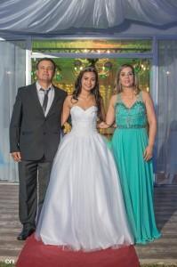 Sol junto a sus padres Nelson Centomo y Anita Sosa