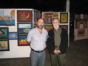 Ricardo Lagos Silva junto al fallecido artista Rodríguez Fosalba