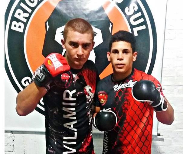 """José """"Titan"""" Trindade y Esteban """"El Duende"""" Rodríguez a todo MMA, el primero preparando el combate en Punta del Este y el segundo pronto para esta noche en un combate por el título Peso Gallo"""