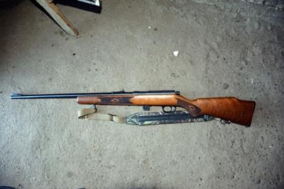 Arma de fuego incautado en el allanamiento