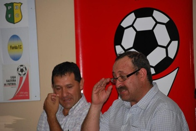 Con Ramón Romero. Los mandos de Ceibal
