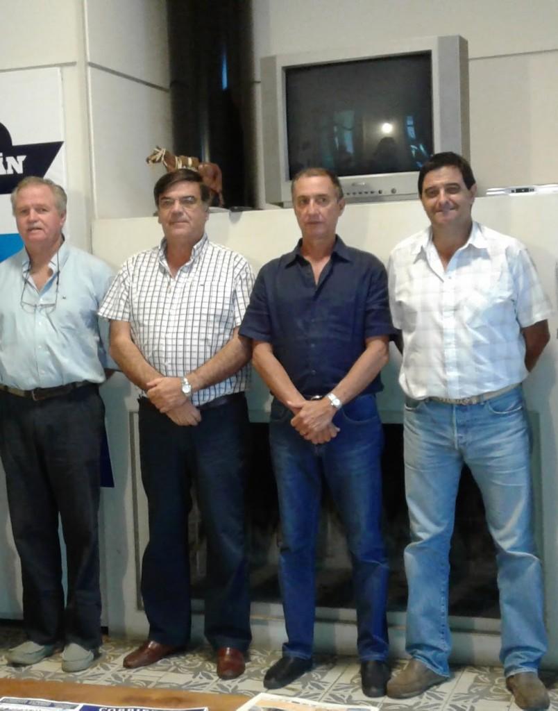 Alejandro Stirling, Martín San Román,  Carlos Martín Correa y Diego Otegu