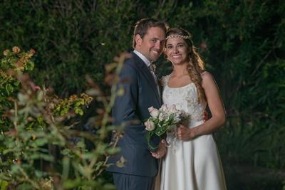 Los nuevos esposos Sergio y Katrina