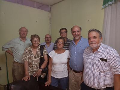Pablo Mieres con dirigentes locales del Partido Independiente