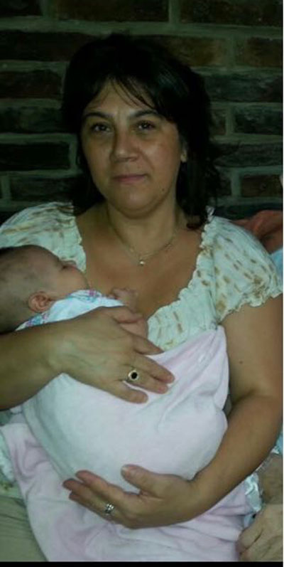 Giovanna con su nieta Ornella