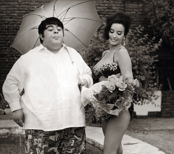 Con Jorge Porcel en Desnuda en la arena, 1969